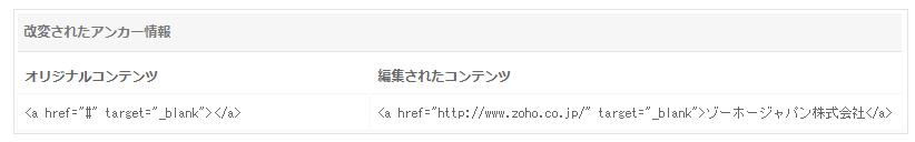 Webサイト 編集されたコンテンツの監視