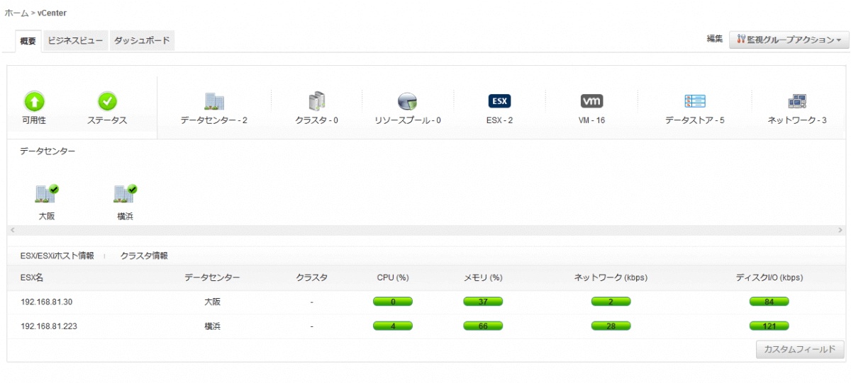 Applications Managerでvmware vCenter Serverを簡単可視化